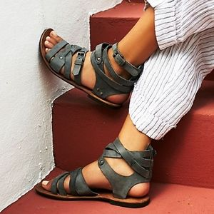Free People Durango Metal Gladiator Sandals